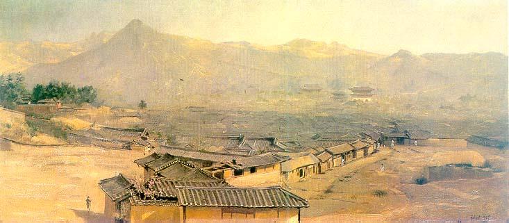 Seoul_scenery-Hubert_Vos-1898